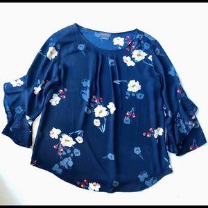 Van Heusen 3/4 sleeve floral blouse, XL